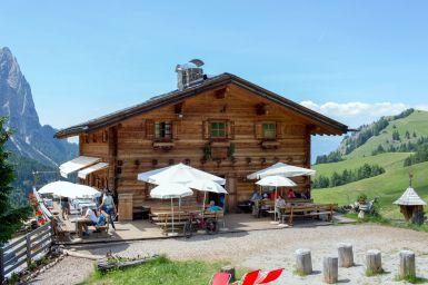 Saltnerhütte auf der Seiser Alm Südtirol