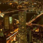 Brooklyn und Manhattan Bridge vom One WTC