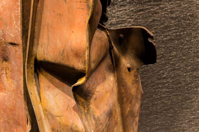 Geschmolzener Stahlträger 9 11 Museum New York City World Trade Center