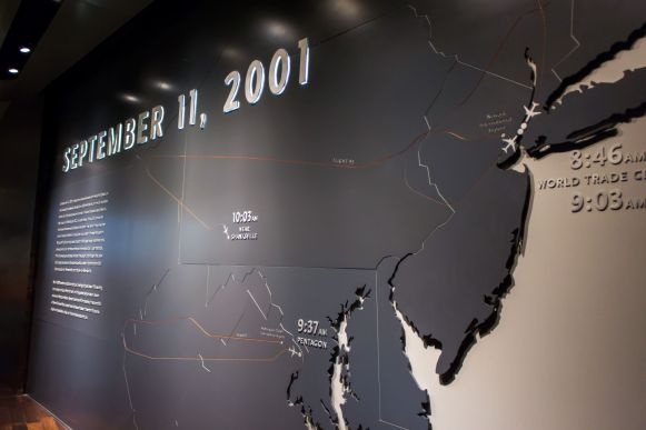 September 11, 2001 depicted at the 9 11 Museum New York City World Trade Center