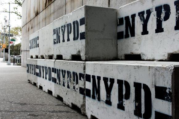 NYPD Concrete Road Blocks
