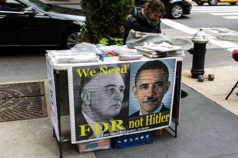 We Need FDR not Hitler - La Rouche Pac Activisim in New York City