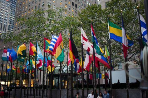 German Flag at Rockefeller Center New York City