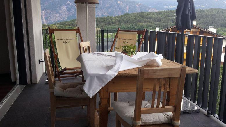 Ferienwohnungen, Apartmenthaus Tisense Südtirol - Terrasse