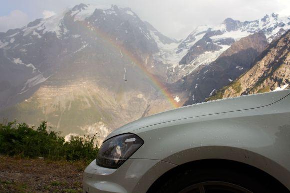 Regenbogen am Stelvio Pass