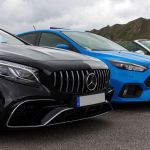 Mercedes Benz S63 AMG Cabrio, Ford Focus RS