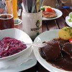 Fränkischer Sauerbraten im Wirtshaus Lämmle in Würzburg