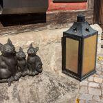 Katzenstatue in Quedlinburg, Harz