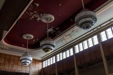 Kronleuchter im Ballsaal vom Hotel Fürstenhof, Eisenach