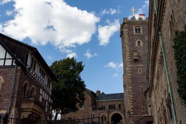 Turm und Innenhof der Wartburg, Eisenach