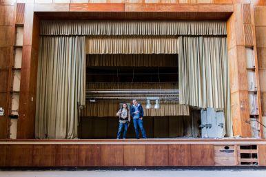 Willy und Robert auf der Bühne im Ballsaal Hotel Fürstenhof, Eisenach