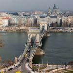 Kettenbrücke und Donauufer, Budapest