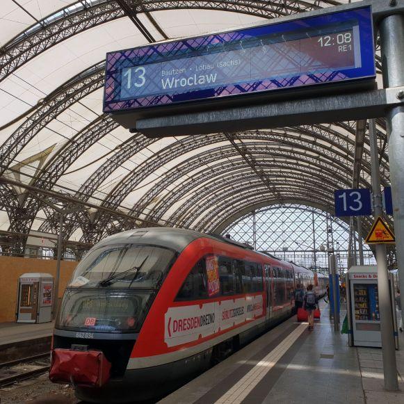 Trillex Zug in Dresden nach Wroclaw
