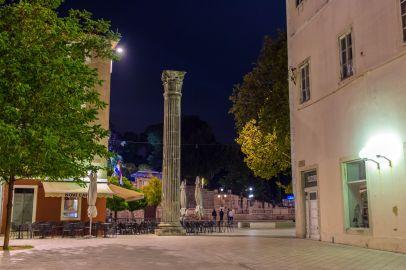 Nachts in Zadar, Kroatien