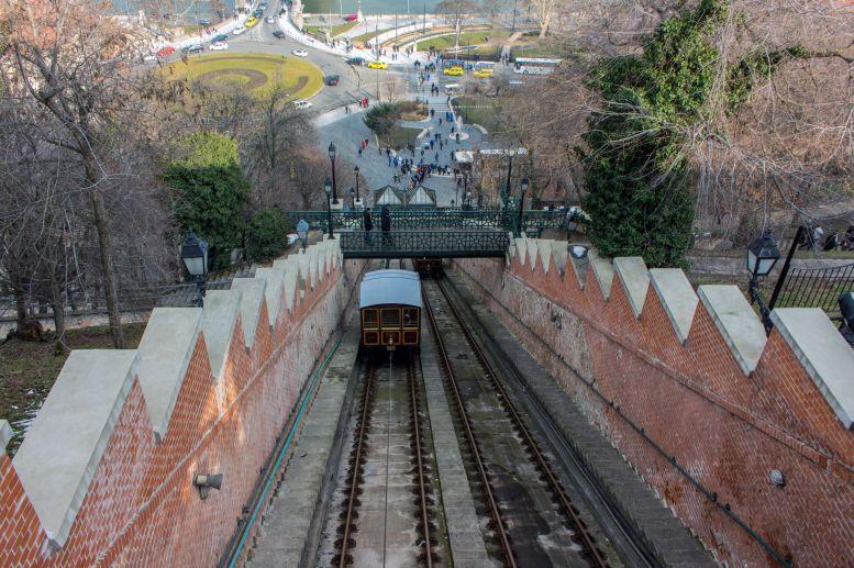 Standseilbahn Budavari Siklo, Budapest, Ungarn