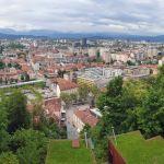 Ljubljana Panorama von der Burg aus gesehen