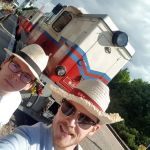 Team Strohhut bei der Kindereisenbahn in Budapest