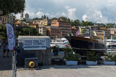 Schiff im Hafen von Santa Margherita Ligure