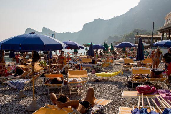 Strand von Marina del Cantone