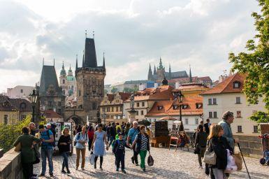 Auf der Karluv most in Prag