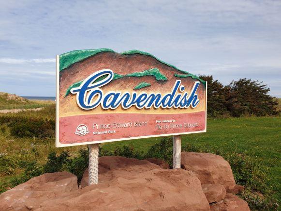 Cavendish Beach Schild auf Prince Edward Island