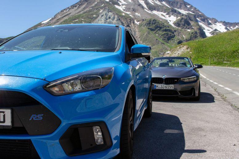 Ford Focus RS und BMW M4 Cabrio an der Großglocknerhochalpenstraße
