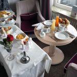 Frühstück im Zimmer im Hotel Romantischer Winkel
