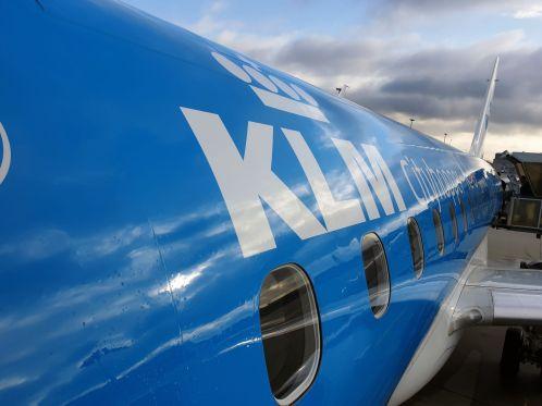 KLM Flugzeug am Flughafen Dresden