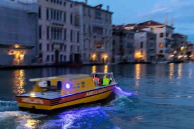 Ambulanzboot in Venedig
