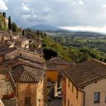 Blick auf die Toskana von Montepulciano aus
