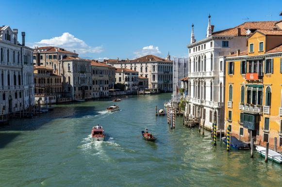 Canal Grande in Venedig Richtung Norden