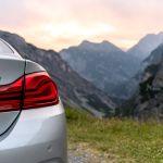 BMW 440i am Stelviopass bei Sonnenuntergang