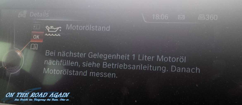 BMW Motorölstand prüfen