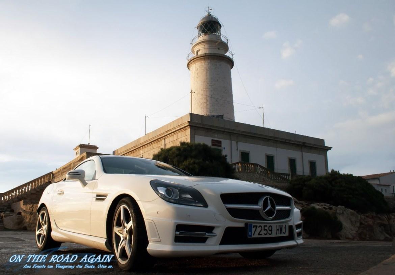 Mercedes Cabrio am Cap de Formentor