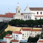 Miradouro Sophia de Mello in Lissabon vom Castelo de Sao Jorge aus