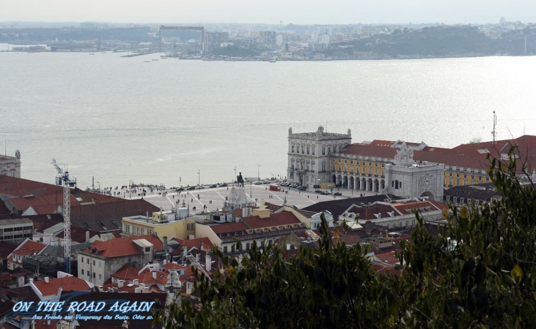 Praca do Comercio vom Castelo de Sao Jorge aus