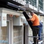 Bauarbeiter in Lissabon