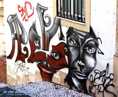 Grafiti und Tags in Lissabon
