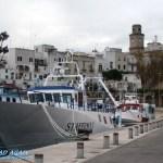 Schiff im Hafen von Monopoli