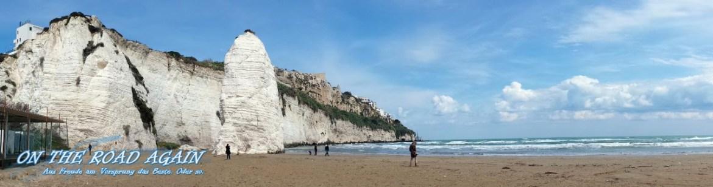 Strand bei Vieste im Panorama