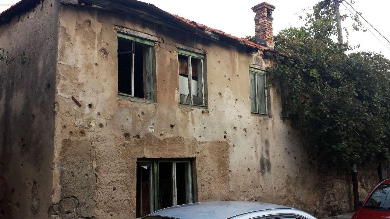 Zerstörtes Haus in der Altstadt von Mostar