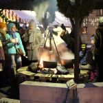 Lagerfeuer Riga Wintermarkt