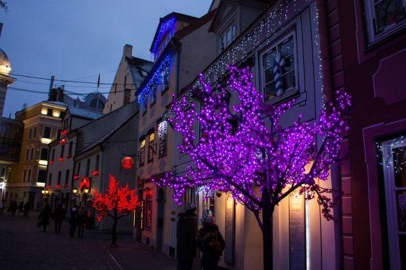 Lichtdeko in Riga