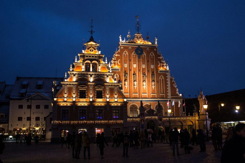 Riga bei Nachteinbruch