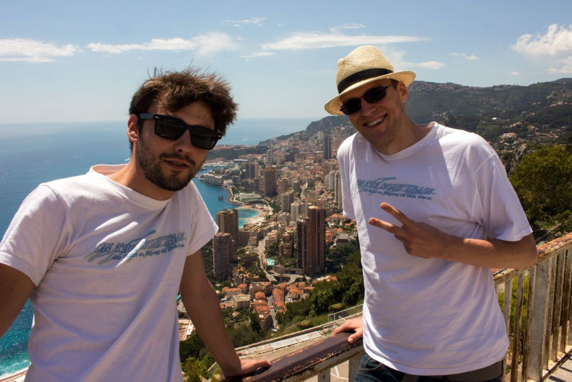 Robert und Willy mit Monaco-Panorama