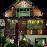 Rotes Haus, Dornbirn bei Nacht