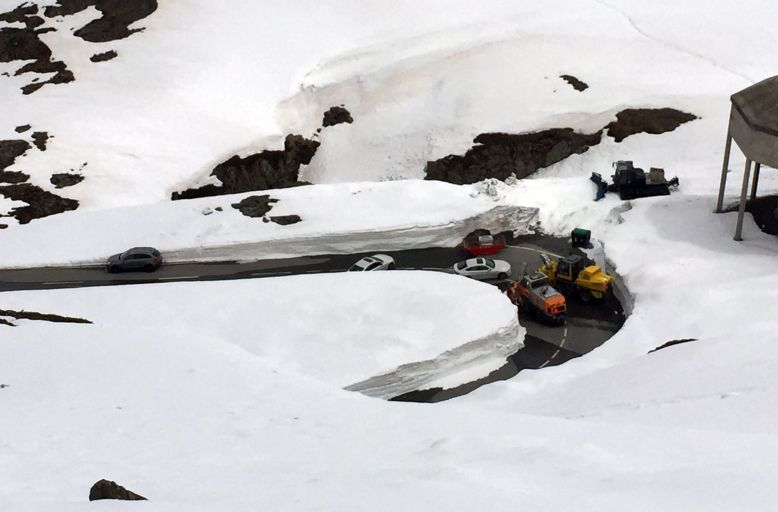 St. Bernhard Pass gesperrt
