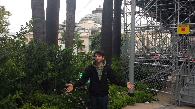 Willy vor der Tribüne B am Casino Monaco zum Grand Prix