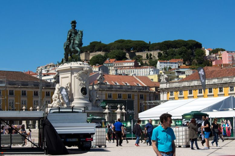 Praca do Comercio, Lissabon