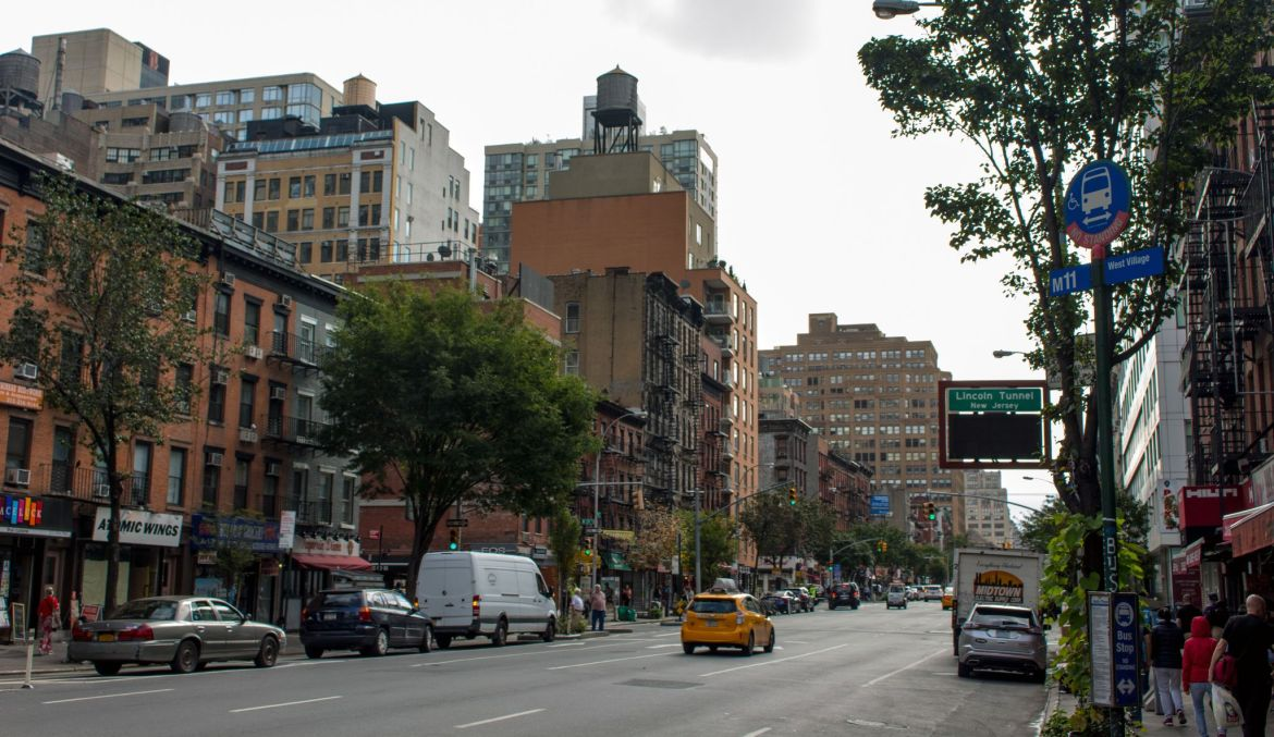 typische Straße in New York City